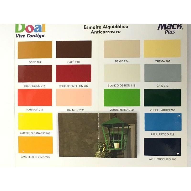 Muestrario pintura doal mack plus esmalte proveedora for Muestrario de pinturas