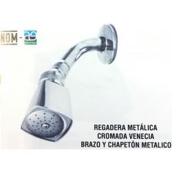 REGADERA METALICA CUADRADA TIPO VENECIA CON BRAZO (R1010) ANBEC