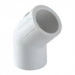"CODO PVC HIDRAULICO C-40 1 1/2"" X 45°"