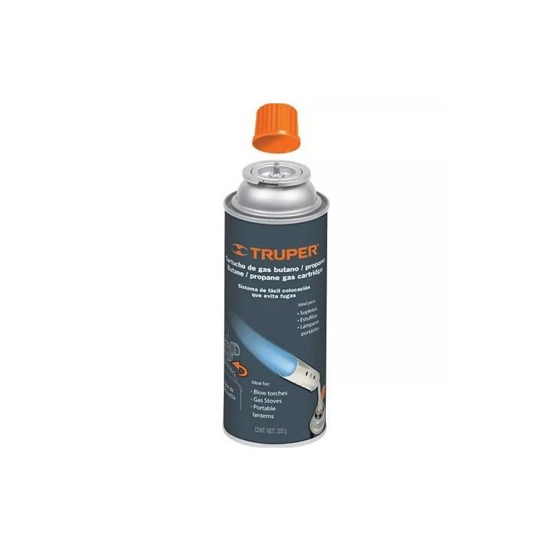 Tanque desechable de gas butano 1 4 de vuelta truper for Tanque de gas butano