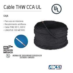 CAJA DE CABLE THW CCA UL CALIBRE 12 AL-CU