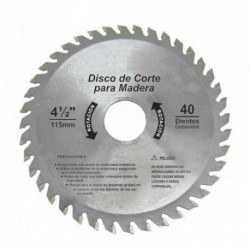 "DISCO  SIERRA PARA MADERA CON 40 DIENTES 4 1/2"" TRUE POWER"