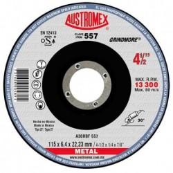 "DISCO DE DESBASTE DE METAL 4 1/2"" X 1/4"" X 7/8"" (557) AUSTROMEX"