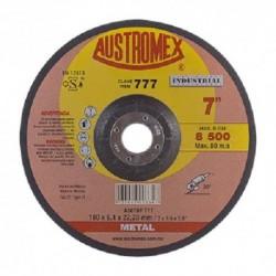 "DISCO DE DESBASTE DE METAL 7"" X 1/4"" X 7/8"" (777) AUSTROMEX INDUSTRIAL"